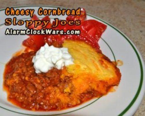 cheesy cornbread sloppy joes