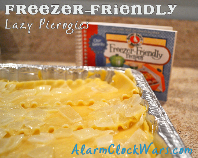 This freezer-friendly recipe for Lazy Pierogies is the easy way to make homemade pierogies. Just layer all the ingredients like lasagna!