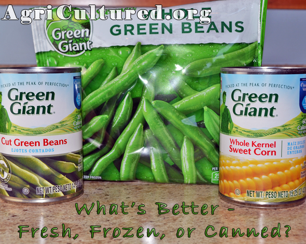 Frozen and canned vegetables can be more convenient than fresh, especially in the winter. But how does the nutrition compare?