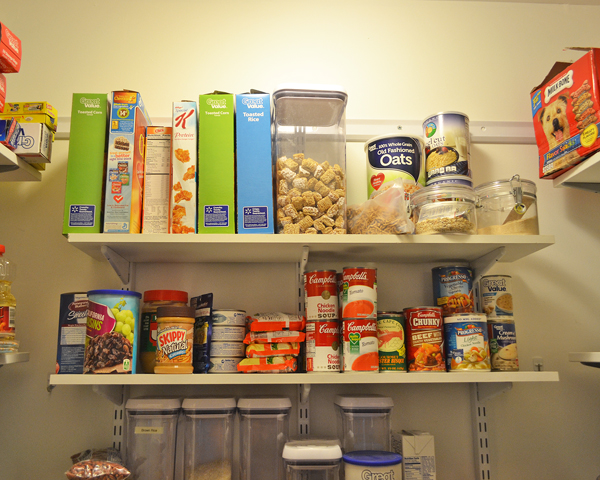 organized pantry cereal and soup - Organized Pantry