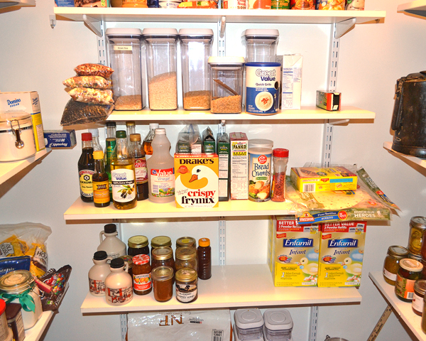 organized pantry cooking