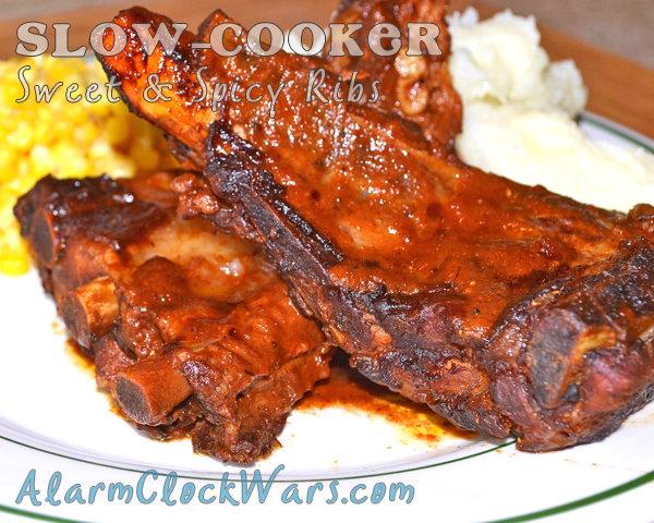 slow-cooker sweet and spicy ribs