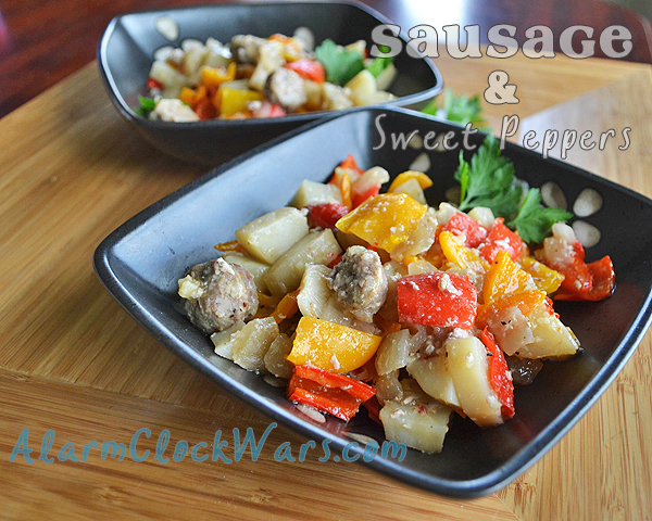 sausage and sweet pepper casserole