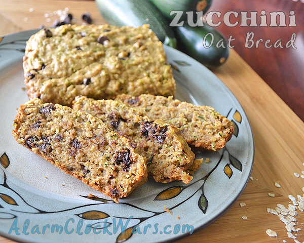 zucchini oat bread with chocolate chips