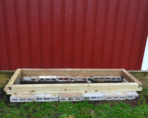 herb garden frame first layer