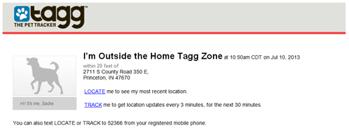 outside the home tagg zone