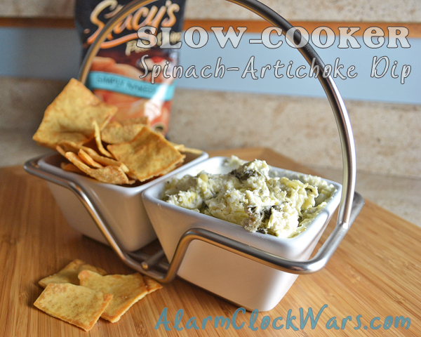 slow-cooker spinach-artichoke dip
