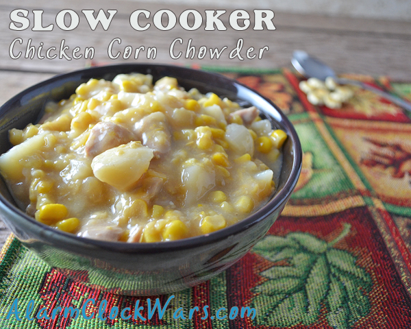 Slow Cooker Chicken Corn Chowder is simple and fast to put together. Get it simmering in your slow cooker for comfort food at the end of a busy fall day.