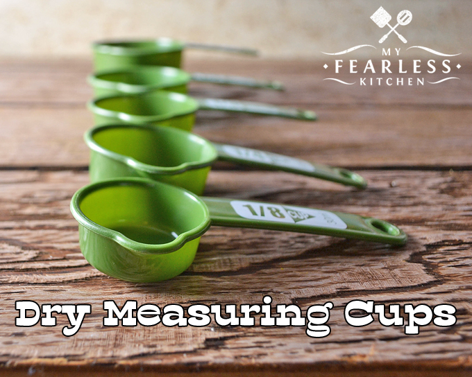 Which Measuring Cups Should I Use? from My Fearless Kitchen. There are different measuring cups for measuring dry ingredients or wet ingredients. Do you know why it is important to use the right measuring cup?