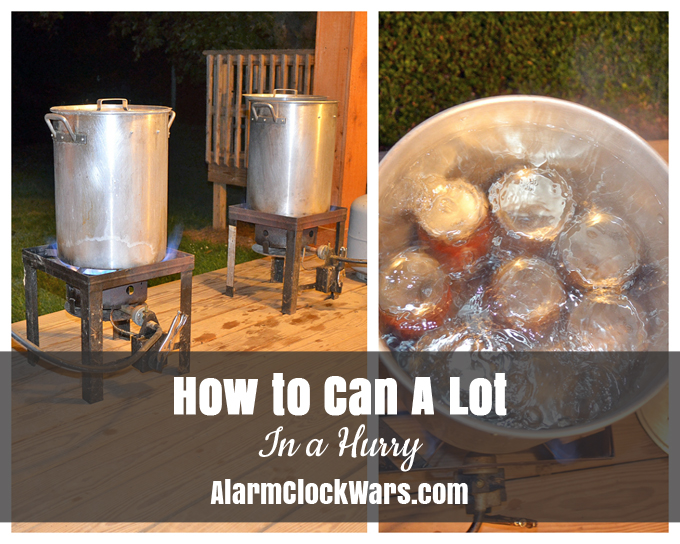 When you have a lot of vegetables ready, you need to know how to can a lot in a hurry. This is the most efficient way we have found to get the canning done!