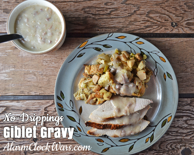 There's a secret ingredient to make this No-Dripping Turkey Giblet Gravy!
