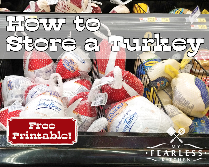 How to Store a Turkey from My Fearless Kitchen. How long will a turkey keep in the freezer? How long can a thawed turkey stay in the refrigerator? Find out all you need to know about how to store turkey.