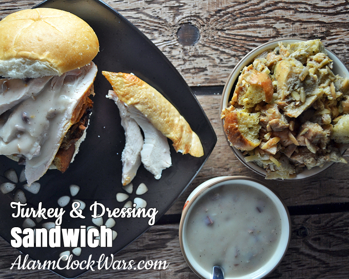 What's a roast turkey without a leftover turkey sandwich? It doesn't matter if you call it dressing or stuffing, you'll want leftovers of that, too! Make the most of all your leftovers with this Turkey and Dressing Sandwich.