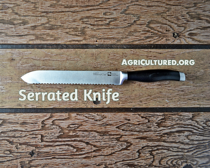 Use a serrated knife for more than just bread. The teeth catch and cut through slippery skins.