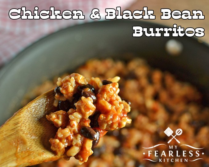 Chicken & Black Bean Burritos from My Fearless Kitchen. This Chicken & Black Bean Burrito recipe is so fast to put together! They make an easy weeknight meal, and a different twist on taco night.
