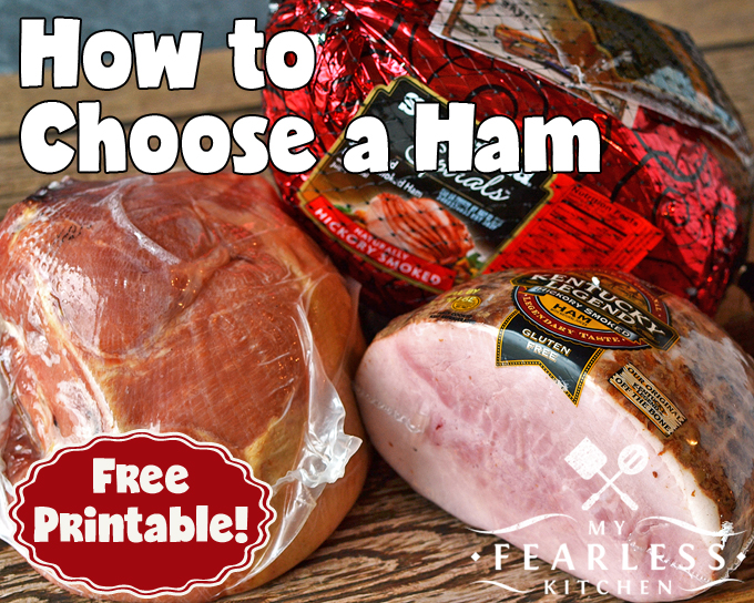 3 types of ham on a wood background