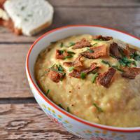 slow cooker au gratin potato soup
