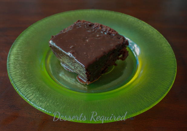 banana bread with nutella on a green plate
