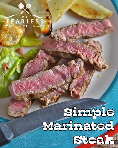 sliced rare ribeye steak