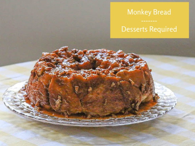 monkey bread on a cake plate