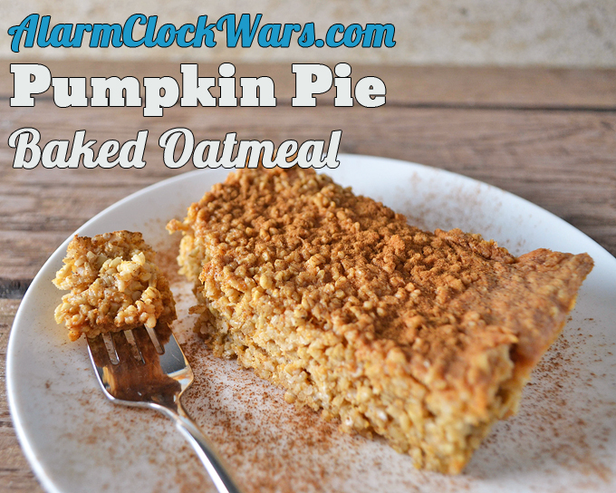 big serving of pumpkin pie baked oatmeal