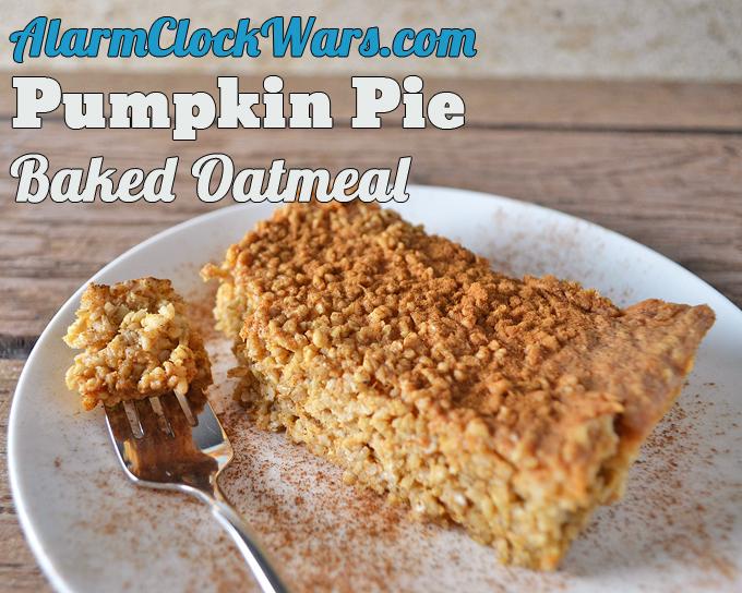 big serving of pumpkin pie baked oatmeal
