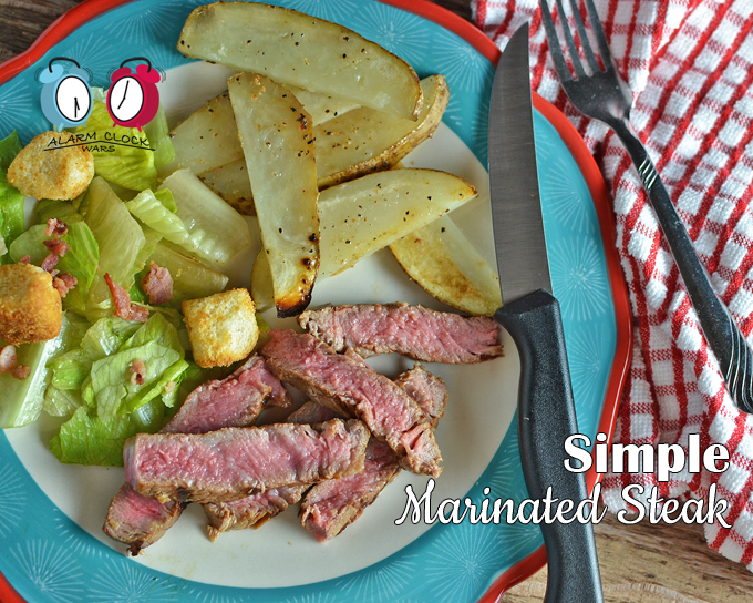Simple Marinated Steak on Alarm Clock Wars