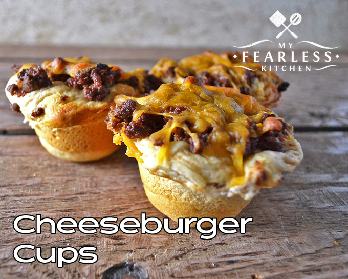 Cheeseburger Cups from My Fearless Kitchen. Don't let burger night get boring! Next time, instead of a plain old cheeseburger, try out this recipe for Cheeseburger Cups. They're quick, easy, and kids love them!