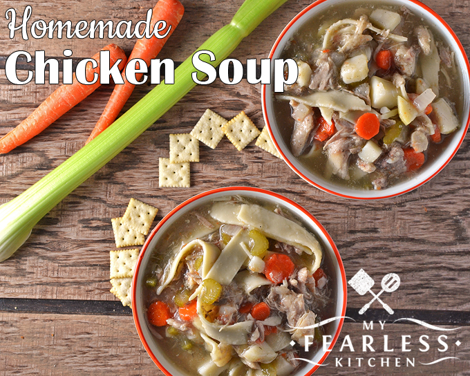 Easy homemade chicken soup my fearless kitchen homemade chicken soup from my fearless kitchen theres nothing wrong with canned chicken soup forumfinder Choice Image