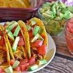 BBQ-Ranch Baked Turkey Tacos