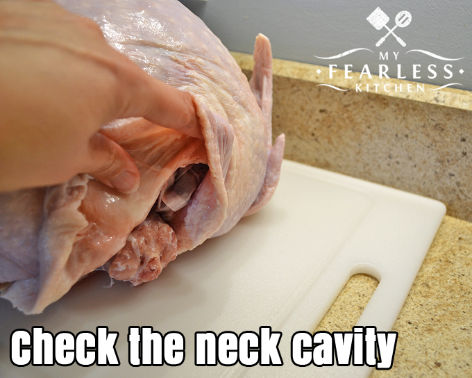 What's That Stuff Inside My Turkey? from My Fearless Kitchen. One step to never skip when you're cooking a turkey is to check inside the turkey after thawing it. Do you know what's inside your turkey and how to use it?