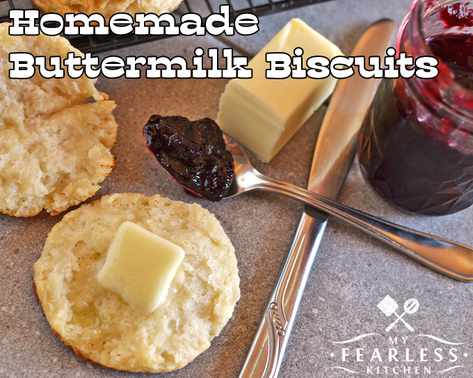 homemade buttermilk biscuits with warm butter and blackberry jelly