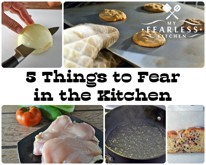 collage of kitchen fears