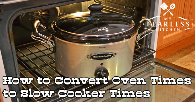 a slow cooker inside an oven