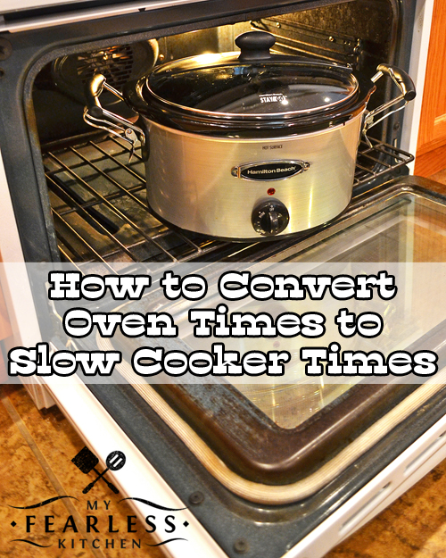 a slow cooker inside an open oven
