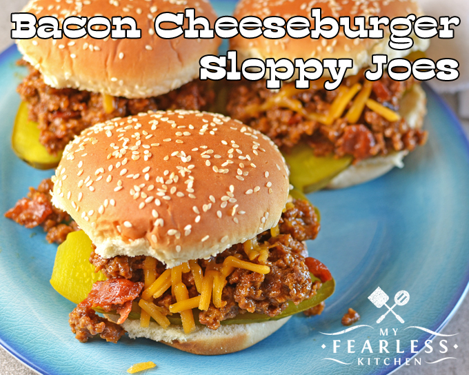 Bacon Cheeseburger Sloppy Joes from My Fearless Kitchen. Try this recipe for Bacon Cheeseburger Sloppy Joes the next time you have a pound of ground beef you don't know what to do with.