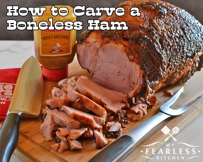 How to Carve a Ham from My Fearless Kitchen. Who carves the ham in your family? Check out these tips for boneless, spiral-sliced, and bone-in ham, and you'll look like a pro when it's time to carve a ham!