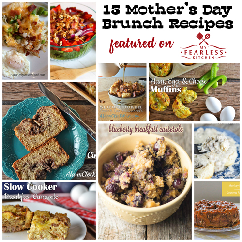 collage of recipes for an easy brunch
