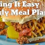 Easy Weekly Meal Plan #21