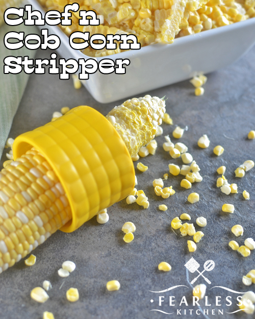 An Easy Way to Cut Corn Off the Cob from My Fearless Kitchen. Do you want an easy way to cut corn off the cob? I reviewed 6 kitchen gadgets for cutting sweet corn kernels off the cob, and I'll share my favorites with you!