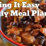 Easy Weekly Meal Plan #27