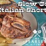 Slow Cooker Italian Short Ribs