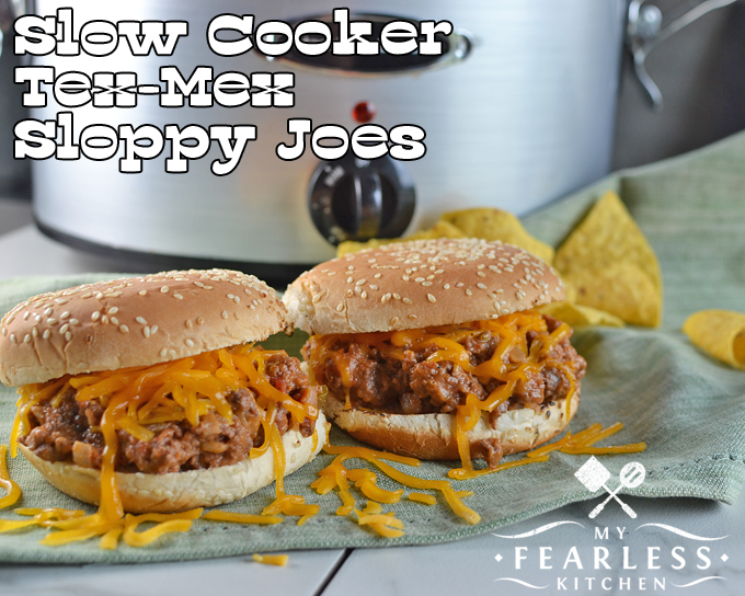 Slow-Cooker Tex-Mex Sloppy Joes from My Fearless Kitchen. Make taco night and sloppy joe night the same night with these easy Slow Cooker Tex-Mex Sloppy Joes. Make them as spicy or as mild as your family likes!