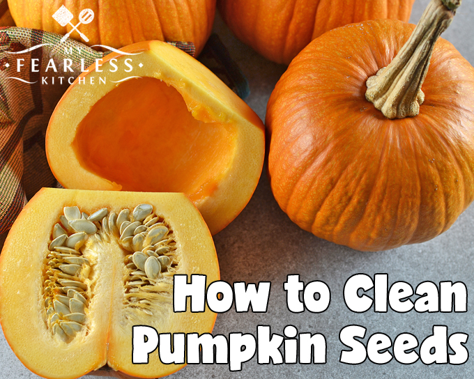 How to Clean Pumpkin Seeds from My Fearless Kitchen. What do you do with the pumpkin seeds after you've carved your Halloween pumpkins? Use these easy tips to clean pumpkin seeds, then enjoy them for a snack!