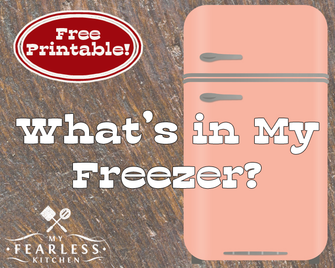 What's in My Freezer? Do you know what's stashed in your freezer? Get a free printable freezer inventory to keep track of what's inside, and make meal prep so much easier!