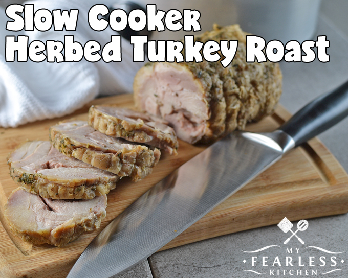 herbed turkey roast cooked in a slow cooker