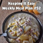 Easy Weekly Meal Plan #52