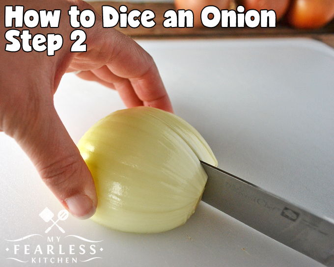 How to Chop an Onion Fast Without Crying from My Fearless Kitchen. Chopping an onion doesn't have to take forever. You can chop an onion in less than two minutes, and you can do it without crying! Get these easy tips, and start chopping onions like a pro!