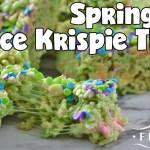 Slow Cooker Springtime Rice Krispie Treats