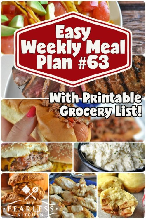 collage of recipes for meal plan 63